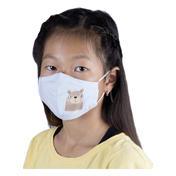 PARSA Waschbare Mund- und Nasenmasken für Kinder Bär blau