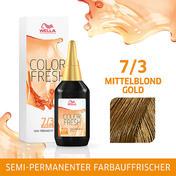 Wella Color Fresh pH 6.5 - Acid 7/3 Mittelblond Gold, 75 ml