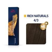 Wella Koleston Perfect Rich Naturals 4/3 Mittelbraun Gold, 60 ml