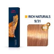 Wella Koleston Perfect Rich Naturals 9/31 Lichtblond Gold Asch, 60 ml