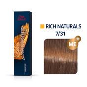 Wella Koleston Perfect Rich Naturals 7/31 Mittelblond Gold Asch, 60 ml