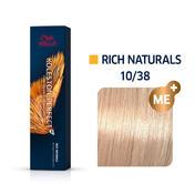 Wella Koleston Perfect Rich Naturals 10/38 Hell Lichtblond Gold Braun, 60 ml