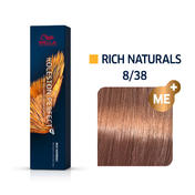 Wella Koleston Perfect Rich Naturals 8/38 Hellblond Gold Braun, 60 ml