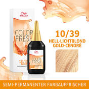 Wella Color Fresh pH 6.5 - Acid 10/39 Hell Lichtblond Gold Cendré, 75 ml