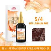 Wella Color Fresh pH 6.5 - Acid 5/4 Hellbraun Rot, 75 ml