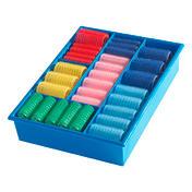 Biovan Rouleaux agrippants-Magic Boîtes d'assortiment Couleur bleue avec 60 rouleaux, Par paquet 60 pièces