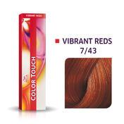 Wella Color Touch Vibrant Reds 7/43 Blond moyen cuivré doré