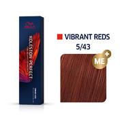 Wella Koleston Perfect Vibrant Reds 5/43 Hellbraun Rot Gold, 60 ml