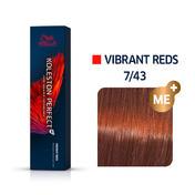 Wella Koleston Perfect Vibrant Reds 7/43 Mittelblond Rot Gold, 60 ml