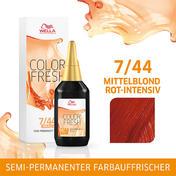 Wella Color Fresh pH 6.5 - Acid 7/44 Mittelblond Rot Intensiv, 75 ml
