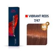 Wella Koleston Perfect Vibrant Reds 7/47 Mittelblond Rot Braun, 60 ml