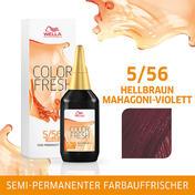 Wella Color Fresh pH 6.5 - Acid 5/56 Hellbraun Mahagoni Violett, 75 ml