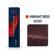 Wella Koleston Perfect Vibrant Reds 55/65 Hellbraun Intensiv Violett Mahagoni, 60 ml