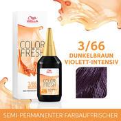 Wella Color Fresh pH 6.5 - Acid 3/66 Dunkelbraun Violett Intensiv, 75 ml