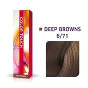 Wella Color Touch Deep Browns 6/71 Dunkelblond Braun Asch