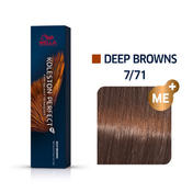 Wella Koleston Perfect Deep Browns 7/71 Mittelblond Braun Asch, 60 ml