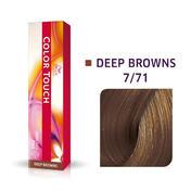 Wella Color Touch Deep Browns 7/71 Mittelblond Braun Asch