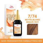 Wella Color Fresh pH 6.5 - Acid 7/74 Mittelblond Braun Rot, 75 ml