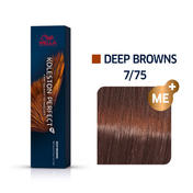 Wella Koleston Perfect Deep Browns 7/75 Mittelblond Braun Mahagoni, 60 ml