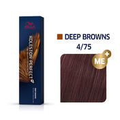 Wella Koleston Perfect Deep Browns 4/75 Mittelbraun Braun Mahagoni, 60 ml