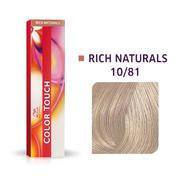 Wella Color Touch Rich Naturals 10/81 Blond platine perle cendré