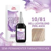 Wella Color Fresh Silver 10/81 Hell Lichtblond Perl Asch, 75 ml