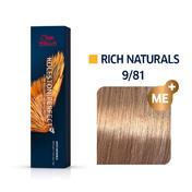 Wella Koleston Perfect Rich Naturals 9/81 Lichtblond Perl Asch, 60 ml