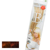 Balmain Fill-In Extensions Natural Straight Duotone 130/33 Medium Copper Red Blond/Light Chestnut Brown