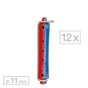 Efalock Dauerwellwickler kurz Blau/Rot Ø 11 mm, Pro Packung 12 Stück