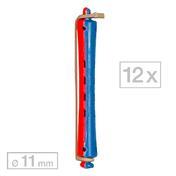 Efalock Dauerwellwickler lang Blau/Rot Ø 11 mm, Pro Packung 12 Stück