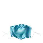 PARSA Waschbare Mund- und Nasenmasken für Erwachsene Blau/Weiß Linien